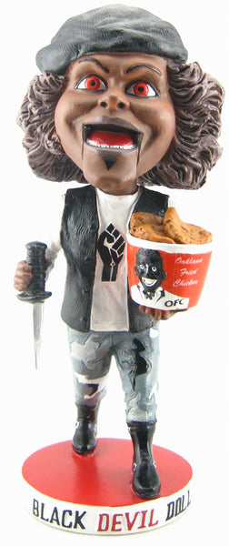 "BLACK DEVIL DOLL ""WEIRD WOBBLER"" BOBBLEHEAD!"