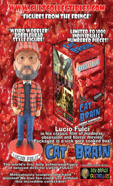 "LUCIO FULCI ""CAT IN THE BRAIN"" ""WEIRD WOBBLER"" BOBBLEHEAD! (VERY LAST FIGURES!)"
