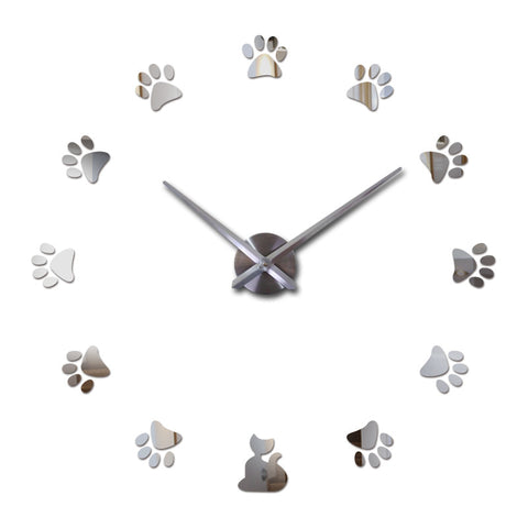 sold out cat paw designer wall wall clocks