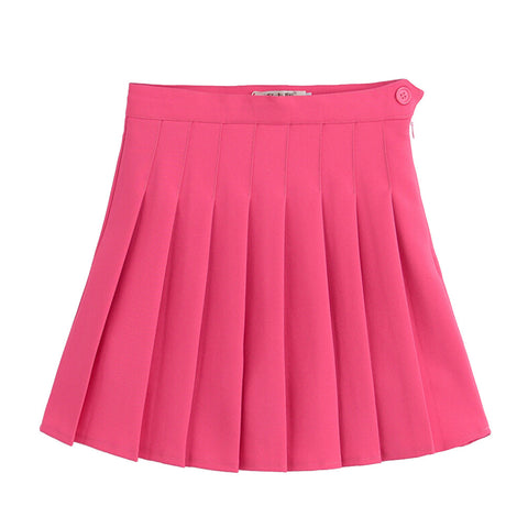 Sports High Waist Skirts Short Pleated Skirt School Dresses for Teen Girls Tennis Scooters