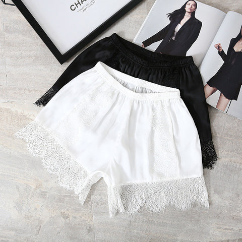 Women Sexy Under Skirt Shorts Lace Decor Short Leggings Booty Underwear Shorts Ultra thin Boyshort Panty for Dress Skirt