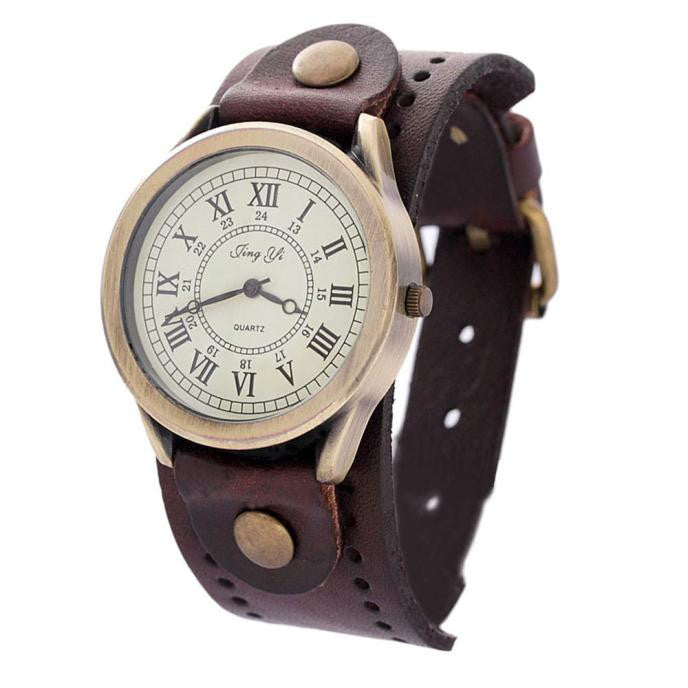 Fashion Casual Watch Dress Watches Vintage Quartz Analog Punk Watch