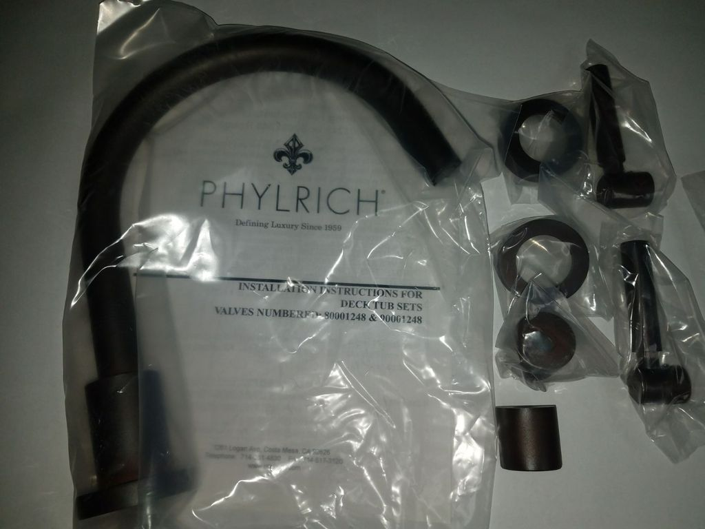 PHYLRICH D1130c -(05W) Weathered Copper FINISH.,Trim only, ., NEW, OPEN BOX, box cold be damage