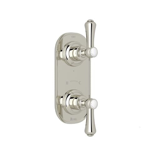 Rohl U.8785LS/TO Perrin and Rowe Trim Only with Brass Lever Handles, Polished Nickel, NEW, OPEN BOX, box cold be damage