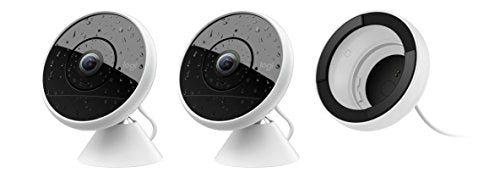 Logitech Circle 2 Indoor/Outdoor Wired Home Security Camera Works with Alexa, HomeKit and Google, with Easy Setup, 1080p HD, 180° Wide-Angle, Night Vision, 2-Way Talk, Alerts, Free 24-Hours Storage