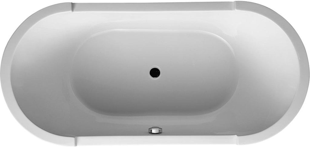 "Duravit Bathtub Starck 75"" x 36"", Oval Soaking Bathtub 700011000000090, NEW, OPEN BOX, box cold be damage"