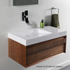 Lacava 5101L001G Vanity top lavatory with shelf on the right Gloss White, NEW, OPEN BOX, box cold be damage