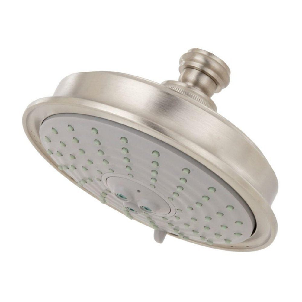 Traditional Volume Control Shower Head Finish: Satin Nickel, NEW, OPEN BOX, box cold be damage