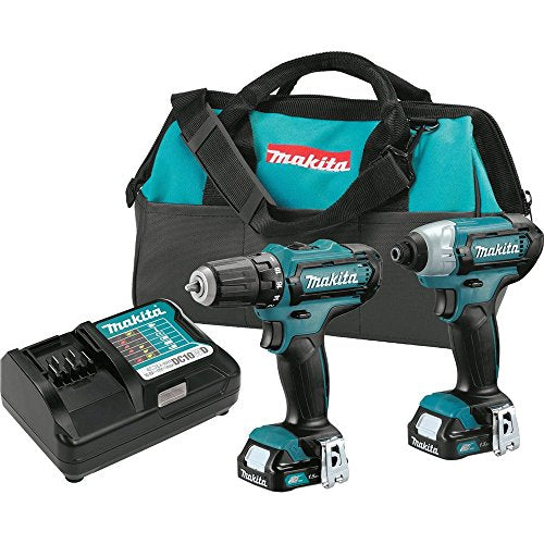 Makita CT226 12V Max CXT Lithium-Ion Cordless Combo Kit, (2 Piece), Style - Drill combo kit