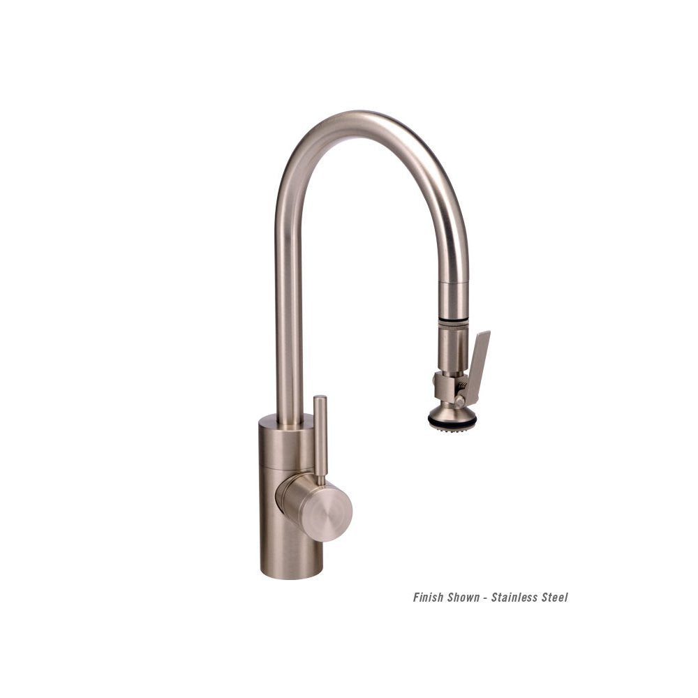 Waterstone 5800-DAP Contemporary PLP Pull Down Kitchen Faucet Distressed Antique Pewter, NEW, OPEN BOX, box cold be damage