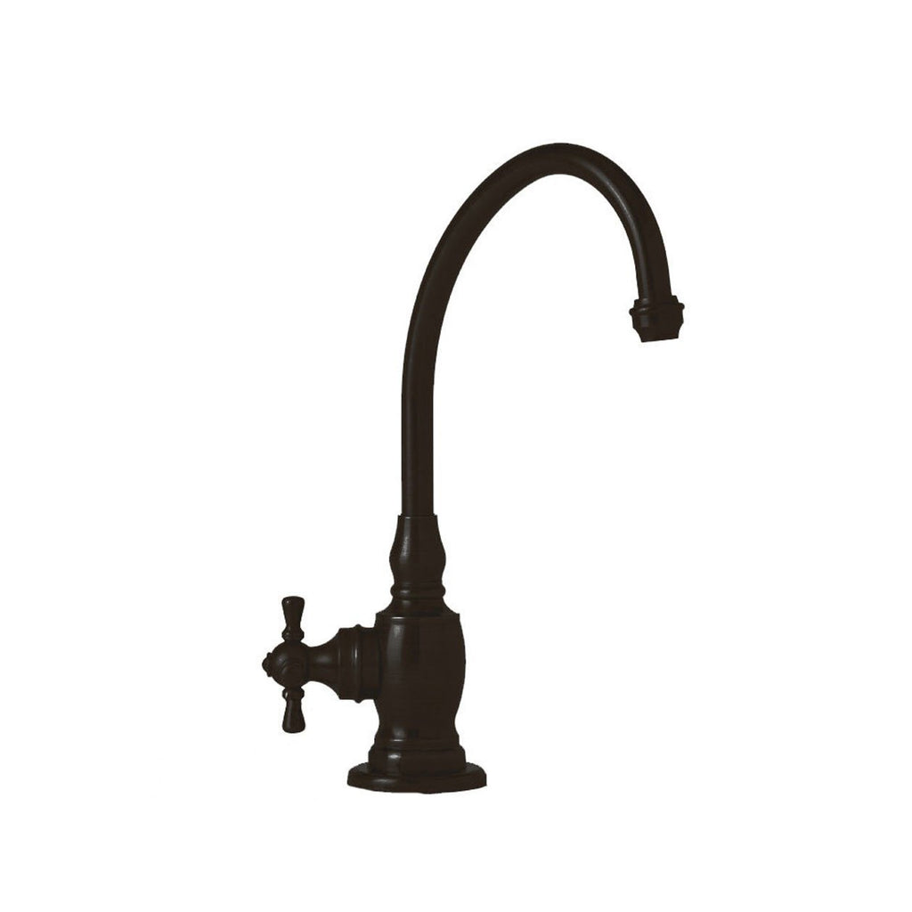 Waterstone 1250H-ORB Hampton Filtration Faucet Hot Only with Single Cross Handle, Black Oil Rubbed Bronze, NEW, OPEN BOX, box cold be damage