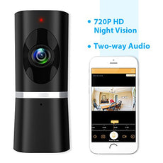 Wireless Security Camera Takihoo WiFi IP Indoor Surveillance Camera Home Baby Pet Monitor Motion Detection 2-Way Audio Night Vision 180 Wide Angle Fisheye P2P Remote Viewing 720P HD IR Camera Panorama