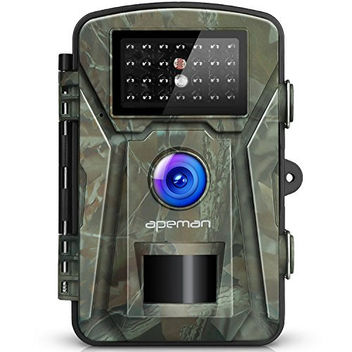 "APEMAN Trail Camera 12MP 1080P 2.4"" LCD Game&Hunting Camera with 940nm Upgrading IR LEDs Night Vision up to 65ft/20m IP66 Spray Water Protected Design"