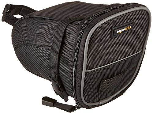 AmazonBasics Strap-On Wedge Saddle Bag for Cycling