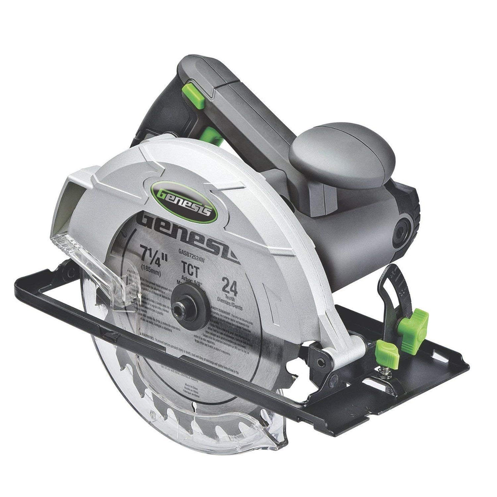 "New Genesis Gcs120 7 1/4"" 12 Amp Electric Heavy Duty Circular Saw New GCS1OOSE"