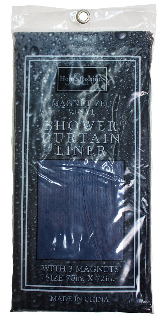 J & M Home Fashions 7610 Navy Shower Curtain Liners 70x72