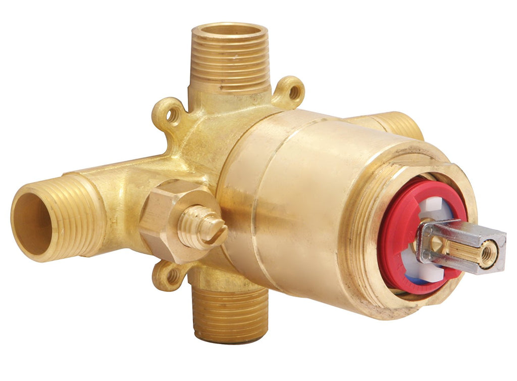 HUNTINGTON BRASS 04120-00 Rough-In shower valve. Forged brass valve body with service stops. Replaceable ceramic disc pressure, NEW, OPEN BOX, box cold be damage