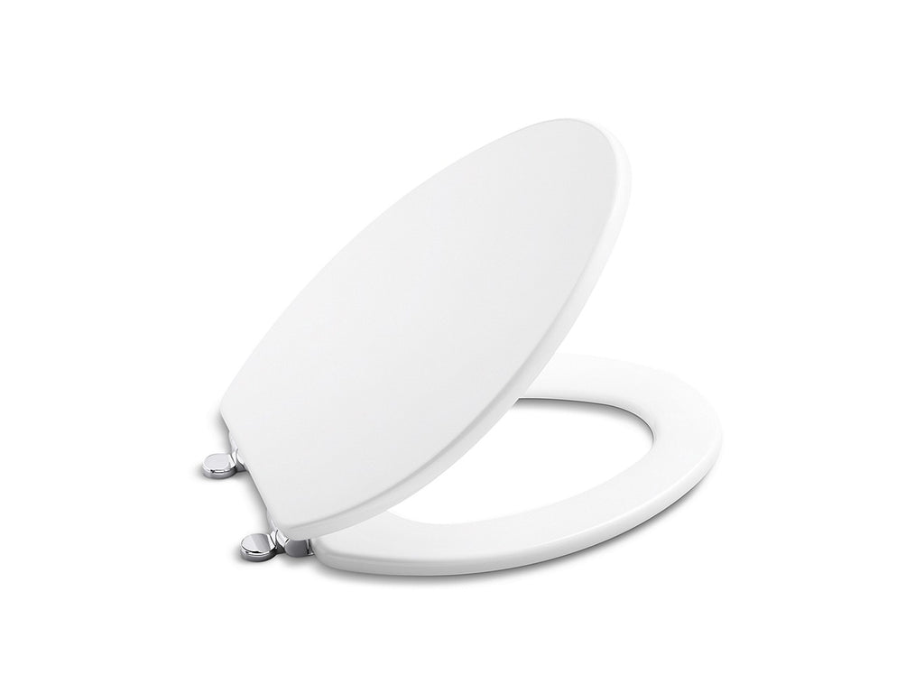 Kallista P70313-CP TOILET SEAT CHROME HINGE - STUCCO WHITE