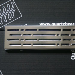 QuARTz by Aco 37403 Stainless steel mix shower channel grate., NEW, OPEN BOX, box cold be damage