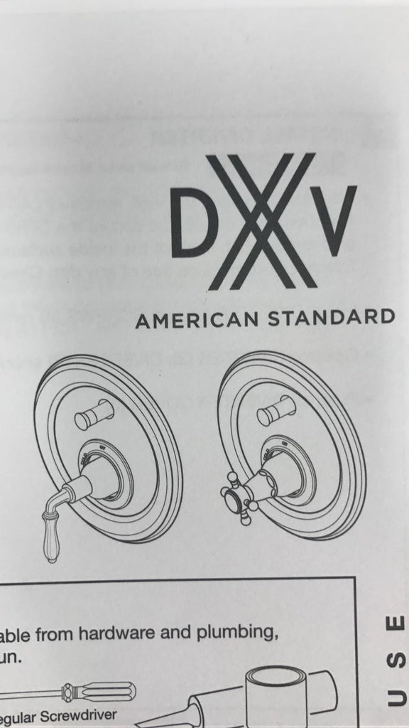 DXV - D35101600.100 - Ashbee Lever Pb Tub/Shower Valve Trim-Pc, NEW, OPEN BOX, box cold be damage