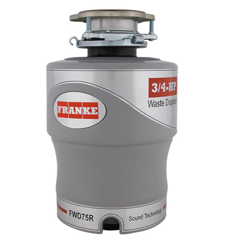 "Franke FWD75R 8 3/4"" Continuous Feed Waste 3/4 HP Disposer, open box, NEW, OPEN BOX, box cold be damage"
