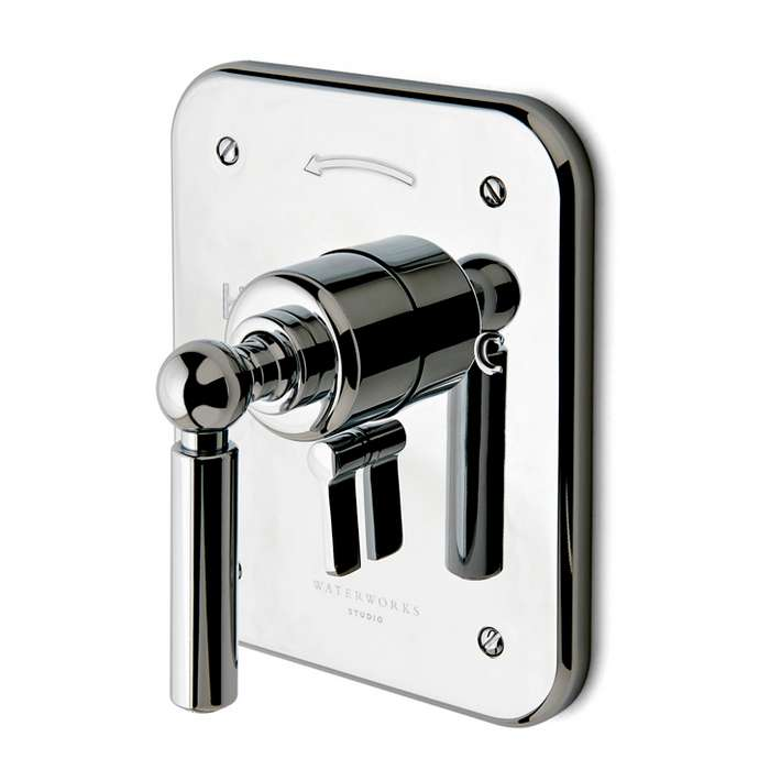Ludlow Pressure Balance with Diverter Trim and Metal Lever Handle, 05-01900-10486, waterworks, NEW, OPEN BOX, box cold be damage