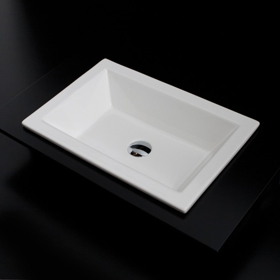 Lacava 4655001 Self-rimming porcelain lavatory without an overflow White, NEW, OPEN BOX, box cold be damage
