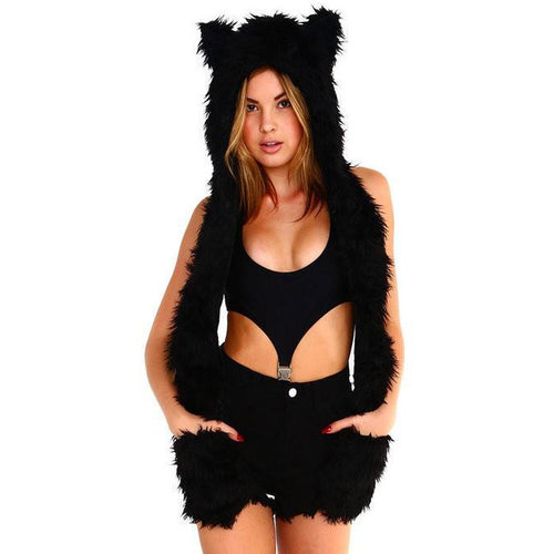Panther Furry Hood