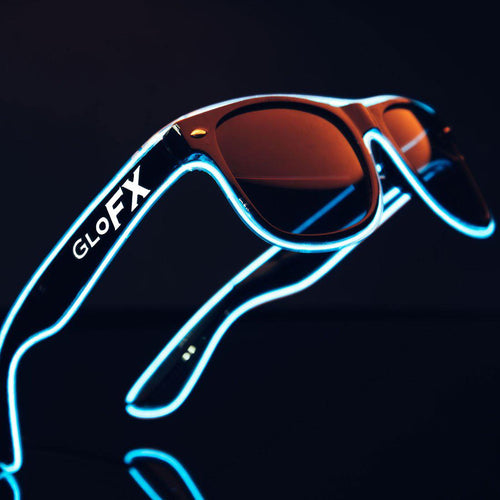 GloFX Sound Activated Luminescent Sunglasses - ElectroLivin, Glasses - Rave Accessories, ElectroLivin  - ElectroLivin