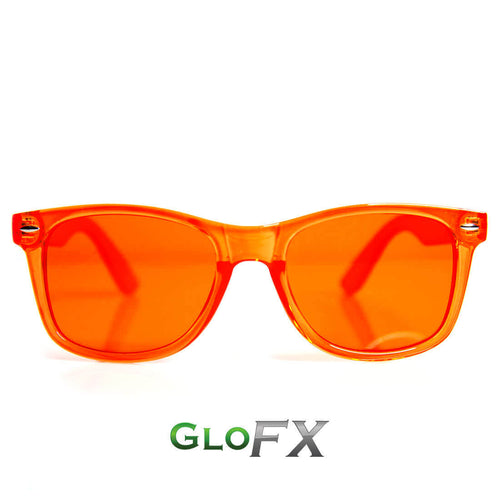 Orange Color Therapy Sunglasses - ElectroLivin, Glasses - Rave Accessories, ElectroLivin  - ElectroLivin
