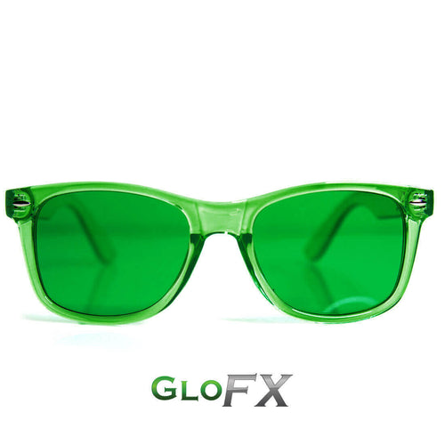 Green Color Therapy Sunglasses - ElectroLivin, Glasses - Rave Accessories, ElectroLivin  - ElectroLivin
