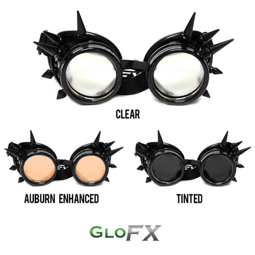 Black Spike Tinted Diffraction - ElectroLivin, Goggles - Rave Accessories, ElectroLivin  - ElectroLivin