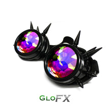 Black Spike Bug Eye Kaleidoscope + Diffraction - ElectroLivin, Goggles - Rave Accessories, ElectroLivin  - ElectroLivin