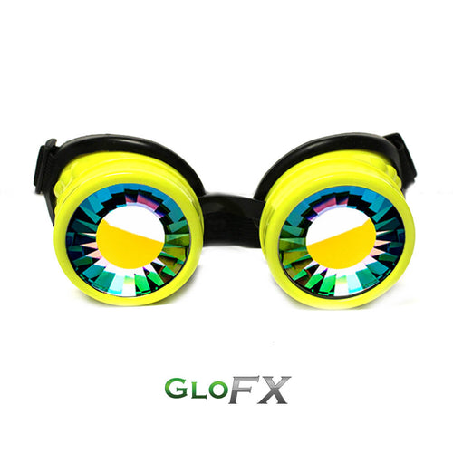 GloFX Yellow Kaleidoscope Goggles