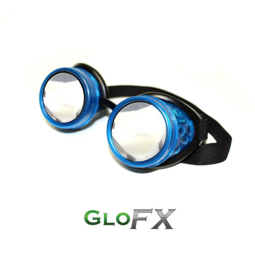 GloFX Glow Blue Diffraction Goggles - ElectroLivin, Goggles - Rave Accessories, ElectroLivin  - ElectroLivin