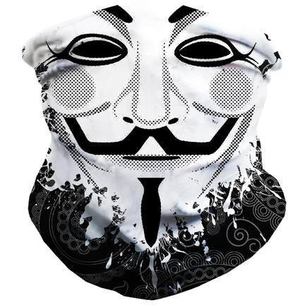 Guy Fawkes Seamless Face Mask Bandana - ElectroLivin, Face Mask - Rave Accessories, ElectroLivin  - ElectroLivin