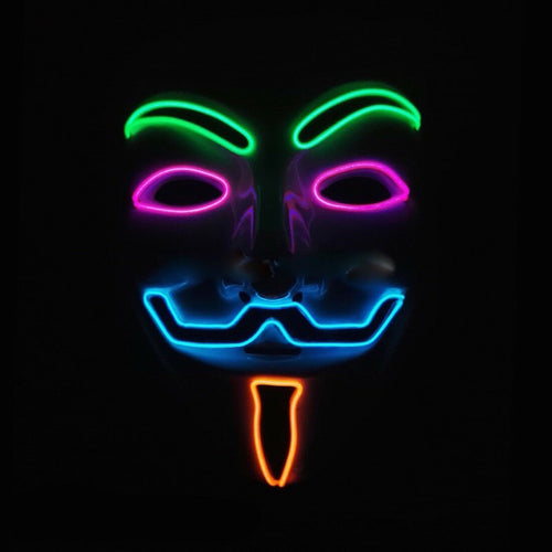 Multicolored Wireless LED Guy Fawkes Mask - ElectroLivin, Face Mask - Rave Accessories, ElectroLivin  - ElectroLivin