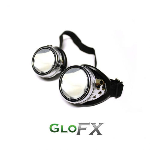 GloFX Chrome Spiral Diffraction Goggles - ElectroLivin, goggles - Rave Accessories, ElectroLivin  - ElectroLivin