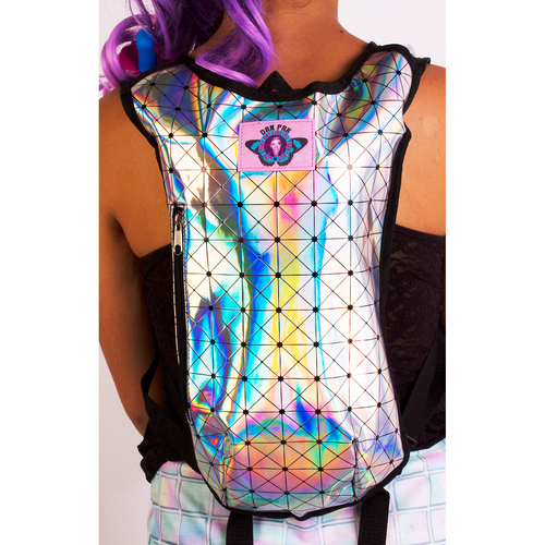 Holographic Disco Hydration Pack - ElectroLivin, Hydration Pack - Rave Accessories, ElectroLivin  - ElectroLivin