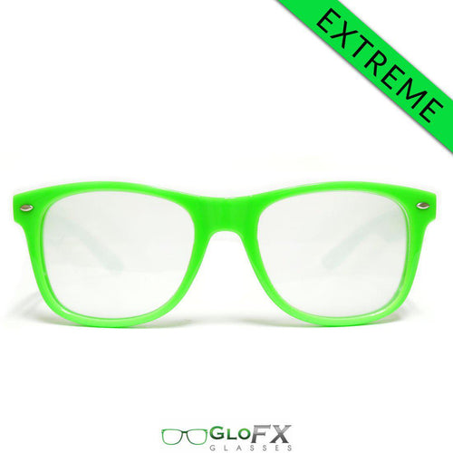 Green Extreme Diffraction Glasses - ElectroLivin, Glasses - Rave Accessories, ElectroLivin  - ElectroLivin