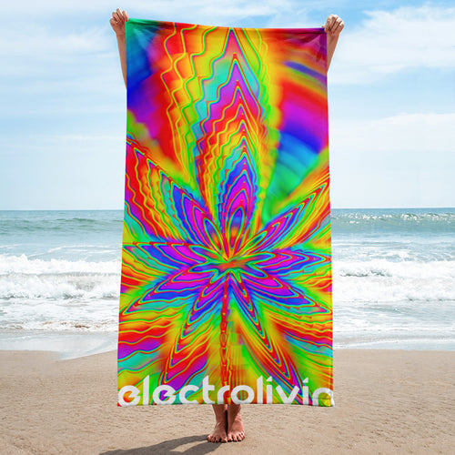 Stoned Rainbow Beach Towel - ElectroLivin,  - Rave Accessories, ElectroLivin  - ElectroLivin