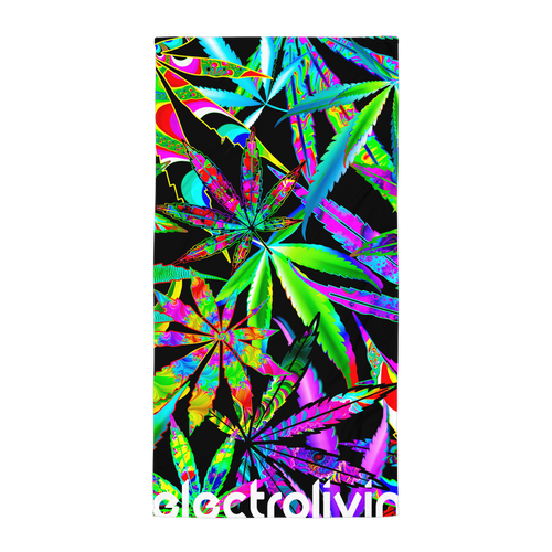 Trippy Daze Beach Towel - ElectroLivin, beach towel - Rave Accessories, ElectroLivin  - ElectroLivin