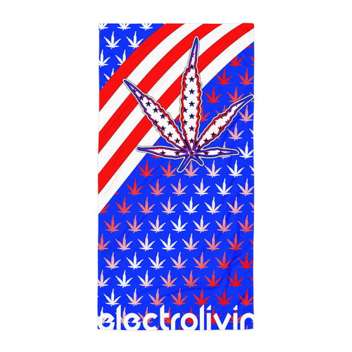 420 Freedom Beach Towel - ElectroLivin, beach towel - Rave Accessories, ElectroLivin  - ElectroLivin