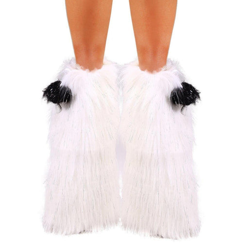 Sparkle White Fluffies - ElectroLivin, Accessories - Fluffies - Rave Accessories, ElectroLivin  - ElectroLivin
