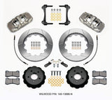 2015-2017 Ford Mustang GT Wilwood AERO6 Big Brake Front Brake Kit (Slotted)
