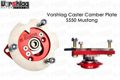 Vorshlag S550 (2015-up) Mustang Camber/Caster Plates & Coilover Perches