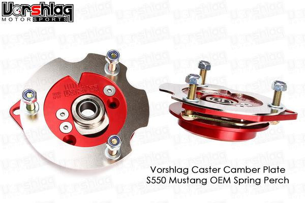 Vorshlag S550 (2015-up) Mustang Camber/Caster Plates & OEM Perches