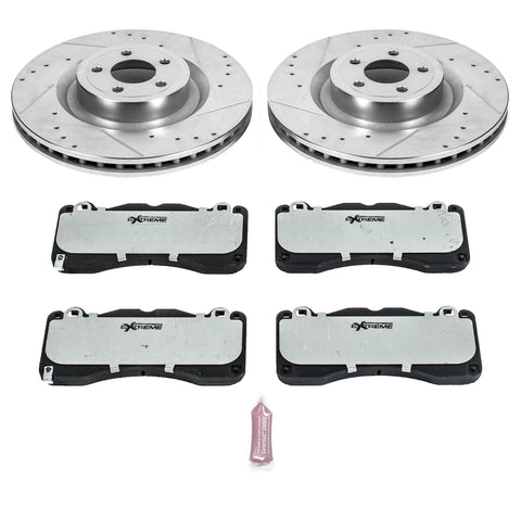 2015-2017 Mustang GT PP Power Stop Z26 Street Warrior Brake Kit (Front Only)