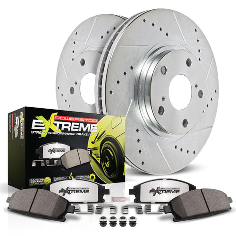 2005-2009 Mustang GT Power Stop Z26 Street Warrior Brake Kit (Front only)