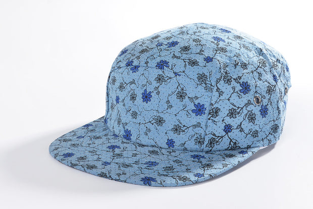 Lavender Floral Five Panel Hat